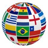 Flagga för fotbolllag stock illustrationer