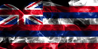 Flagga för Hawaii statrök, Amerikas förenta stater Royaltyfria Bilder