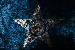 Flagga för Houston stadsgrunge, Texas State, Amerikas förenta stater Arkivbilder