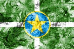 Flagga för Jackson stadsrök, Mississippi stat, Förenta staterna av Ame Royaltyfria Foton