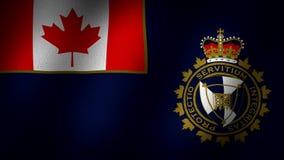 Flagga för Kanada gränsservice vektor illustrationer