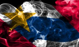 Flagga för Lafayette stadsrök, Indiana State, Förenta staterna av Ameri Royaltyfri Fotografi
