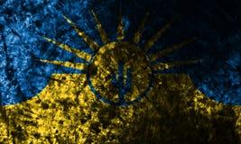 Flagga för Mesa-stadsgrunge, Arizona tillstånd, Amerikas förenta stater Fotografering för Bildbyråer