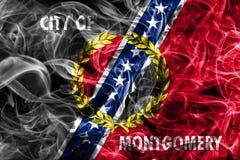 Flagga för Montgomery stadsrök, Alabama stat, Förenta staterna av Amer royaltyfri foto