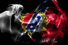 Flagga för Montgomery stadsrök, Alabama stat, Förenta staterna av Amer royaltyfri illustrationer