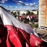Flagga för nationell dag Konstnärlig blick i livliga färger för tappning Arkivbilder
