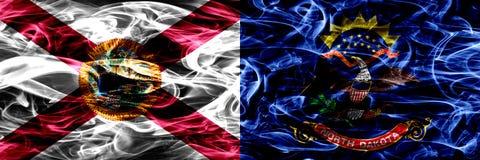 Flagga för North Dakota statrök, Amerikas förenta stater royaltyfri bild