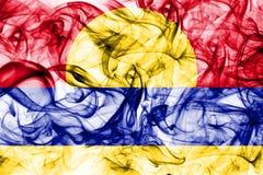 Flagga för rök för Palmyraatoll, beroende territoriumflagga för Förenta staterna Arkivfoton