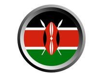 flagga för runda 3D av Kenya vektor illustrationer