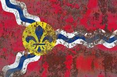 Flagga för Saint Louisstadsrök, Missouri stat, Förenta staterna av f.m. Royaltyfria Foton