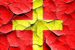 Flagga för signal för sprucken charmör för Grunge maritim arkivfoton