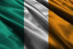 Flagga för symbol för illustration för Irland flagga 3D original- och enkel Irland nation, vektor illustrationer