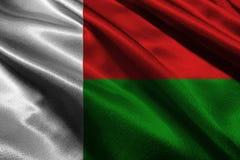 Flagga för symbol för illustration för Madagascar flagga 3D original- och enkel Madagascar, royaltyfri illustrationer