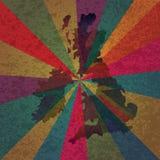 Flagga för UK Breat Britannien på strålbakgrund Arkivfoton