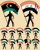 flagga för 4 bärare Royaltyfri Fotografi