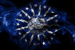 Flagga f?r buffelstadsr?k, New York stat, Amerikas f?renta stater royaltyfri illustrationer