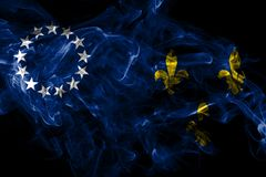Flagga f?r Louisville gammal stadsr?k, Kentucky stat, Amerikas f?renta stater vektor illustrationer