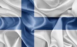 Flagga Finland Royaltyfri Bild
