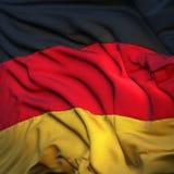 flagga fladdrande germany Fotografering för Bildbyråer