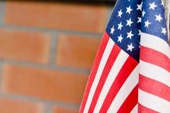 Flagga flagga av för Amerikas förenta stater, Amerika Royaltyfria Bilder