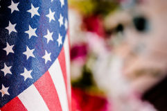 Flagga flagga av för Amerikas förenta stater, Amerika Arkivbilder