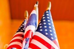 Flagga flagga av för Amerikas förenta stater, Amerika Royaltyfri Foto