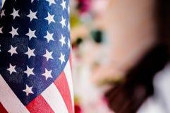 Flagga flagga av för Amerikas förenta stater, Amerika Royaltyfri Fotografi