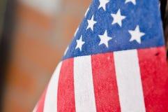 Flagga flagga av för Amerikas förenta stater, Amerika Royaltyfri Bild