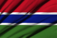 flagga gambia Fotografering för Bildbyråer