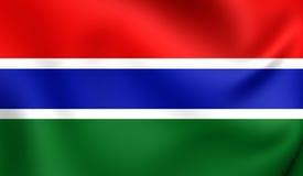 flagga gambia royaltyfri illustrationer