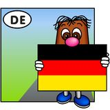 flagga germany vektor illustrationer