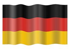 flagga germany Royaltyfri Foto