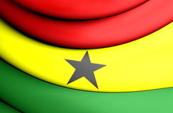 flagga ghana vektor illustrationer