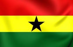 flagga ghana stock illustrationer