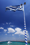 flagga greece Royaltyfria Bilder