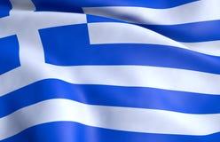 flagga greece vektor illustrationer