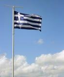 flagga greece Royaltyfria Foton
