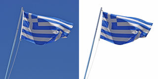 flagga greece Arkivfoto