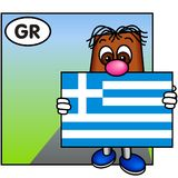 flagga greece royaltyfri illustrationer