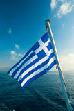 flagga greece Royaltyfri Fotografi