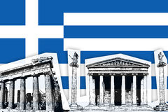 flagga greece Royaltyfri Foto