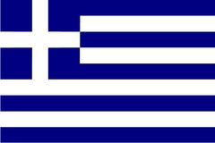 flagga greece Royaltyfri Bild