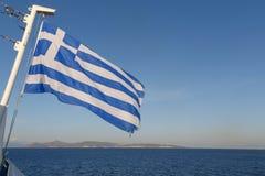 flagga greece Arkivfoton