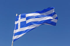 flagga greece Royaltyfri Fotografi