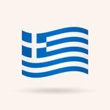 flagga greece royaltyfri illustrationer