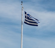 flagga greece Royaltyfria Bilder