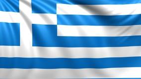 flagga greece Sömlös kretsad video, längd i fot räknat stock illustrationer