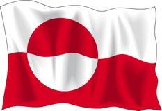 flagga greenland Royaltyfri Fotografi