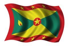 flagga grenada Arkivfoto