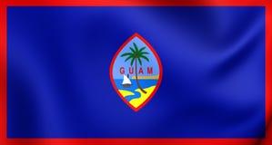 flagga guam royaltyfri illustrationer